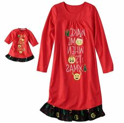 Girl 4-14 and Doll Matching Christmas Nightgown Clothes Amer