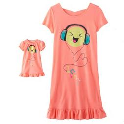 Girl 4-14 and Doll Matching Emoji Nightgown Clothes fit Amer