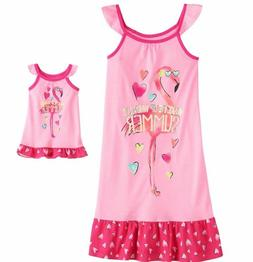 Girl 4-14 and Doll Matching Flamingo Nightgown Clothes Ameri
