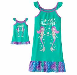 Girl 4-14 and Doll Matching Mermaid Nightgown Clothes ft Ame