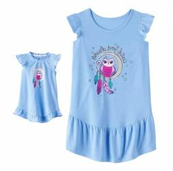 Girl 4-14 and Doll Matching Owl Nightgown Clothes fit Americ
