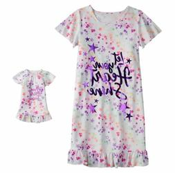 Girl 4-14 and Doll Matching Star Nightgown Clothes fit Ameri