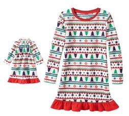 Girl 4-16 and Doll Matching Fairisle Nightgown Clothes Ameri