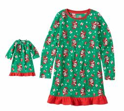 Girl and Doll Matching Santa Christmas Nightgown Clothes Ame