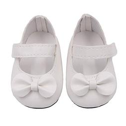 Liping Glitter Doll Shoes Bow Dress Shoes for 18 Inch Our Ge
