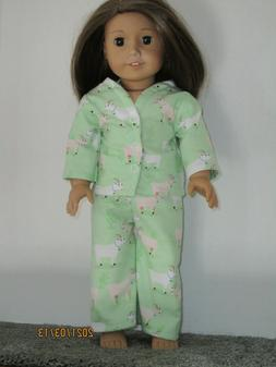"Goat Pajamas 18"" Doll Clothes American Girl"