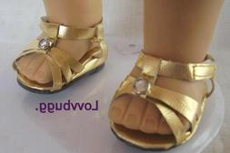 Gold Jewel Sandals for American Girl 18 inch Doll Shoes Clot