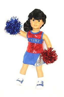 Got Spirit Sequin 4PCS Cheerleader Outfit red/white/blue fit