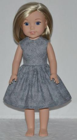 Gray Doll Dress Clothes Fits American Girl Wellie Wisher Dol