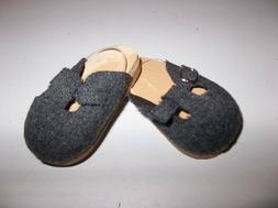 Gray Wool Mule Shoes made for 18 inch American Girl Doll Clo