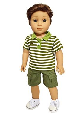 My Brittany's Green Polo Set for American Girl Boy Doll Clot