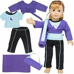 Dress Along Dolly Gymnastics Outfit  for American Girl Dolls
