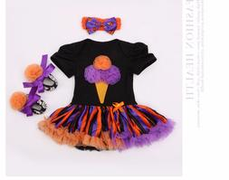 "Halloween pumpkin dress set multicolor dress for 20-22"" Rebo"