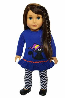 Halloween Spooky Kitten Outfit Fits 18 Inch American Girl Do