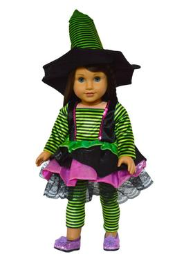 Halloween Witch Costume Doll Clothes for 18 Inch American Gi