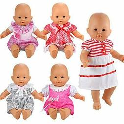 BARWA Handmade 5 Pcs Dresses Clothing Lovely Clothes Costume