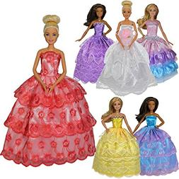 Dressed by Design Handmade barbie dress 6 pack satin lace pr