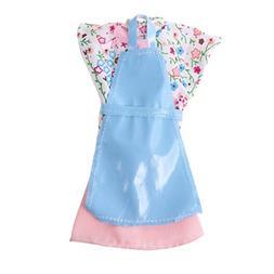 Jili Online Fashion Handmade Blue Apron & Floral Blouse & Pi