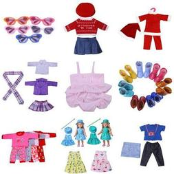 Handmade Doll T-shirt Pants Shoes Dress Pajamas for 18 inch