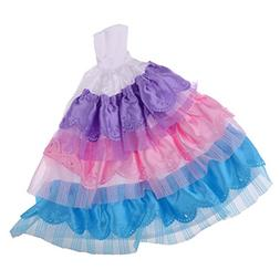 MonkeyJack Fashion Evening Dress for Barbie Dolls Rainbow La