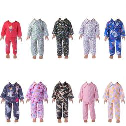 Handmade Fashion Clothes Pajamas Sleepwear for 18 inch Ameri