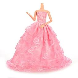 Buytra Fashion Handmade Clothes Lace Dresses Grows Outfit fo