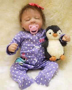 Handmade Lifelike Baby Soft Vinyl Girl Doll Reborn Newborn D