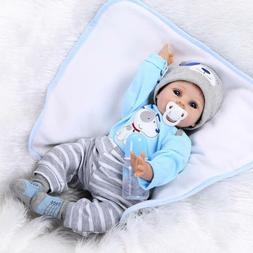 Handmade Newborn Lifelike Baby Dolls Body Vinyl Silicone Boy