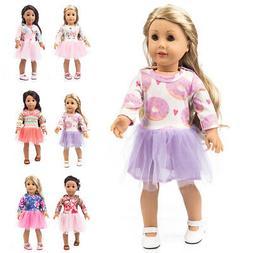 Handmade Sweet Doll Clothes Princess Dress for 18 inch Ameri