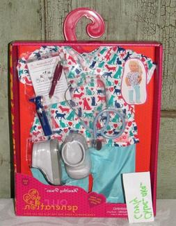 """Our Generation HEALTHY PAWS Vet Pet DOCTOR outfit set American 18/"""" Girl Doll"""