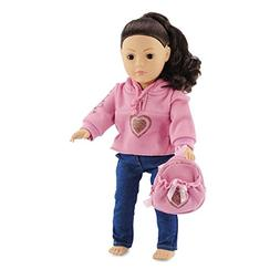 18 Inch Doll Clothes Heart Hoody Set - Fits American Girl Do
