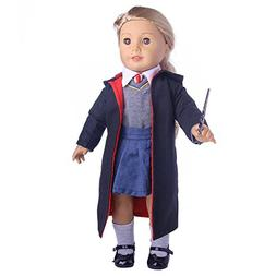 ZWSISU 8pc Hermione Granger Hogwarts-like School Uniform wit