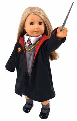 Ebuddy Hermione Granger-Inspired School Uniform Doll,Clothes