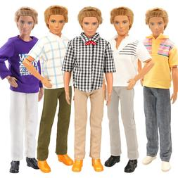 Barwa High quality  5 pieces of KEN doll fixed clothing + 2