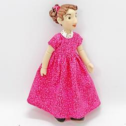 Hitty Doll Clothes Fuchsia Basic Dress for Slim Hitty Doll