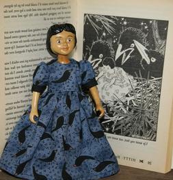 Hitty dress...Crows EverywhereDress...Dolls/Clothes/Hitty/