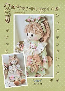 HOLLY - Rag Doll Sewing Craft PATTERN - Shabby Chic Cloth Do