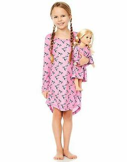 Leveret Horses Matching Doll & Girl Sleep Nightgown
