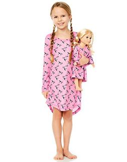 Leveret Horses Matching Doll & Girl Nightgown 6 Years