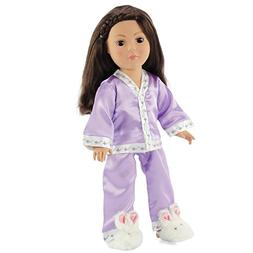 "18 Inch Doll Lavender Pajama Set | Fits 18"" American Girl Do"