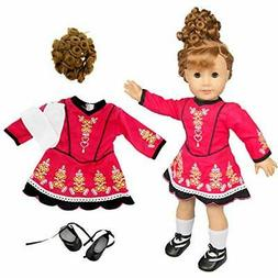 "Irish Step Dancing Doll Clothes for 18"" Dolls"