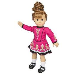 "Irish Step Dancing Doll Clothes for 18"" Dolls Includes Dress"
