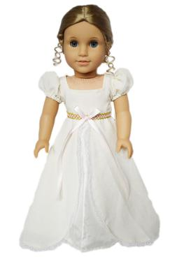 Ivory Victorian Gown Doll Clothes for 18 Inch  American Girl