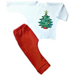 Jacqui's Unisex Baby Oh Christmas Tree 2 Piece Clothing Set,