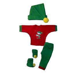 Jacqui's Unisex Baby Santa's Christmas Elf 4 Piece Clothes S