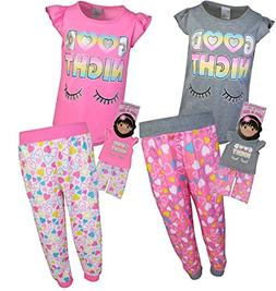 BFF & ME Girls 4 Piece Jogger Pajama Set with Matching Doll