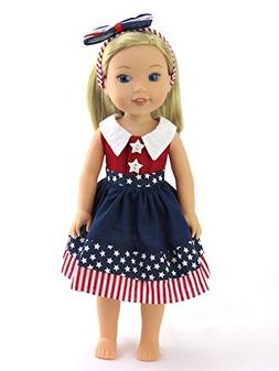 """American Fashion World 4th of July Dress