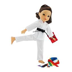 14 Inch Doll Clothes/Clothing | Karate Athletic Outfit with
