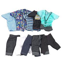 Gosear Ken Doll, 5 Sets Fashion Casual Wear Doll Clothes Jac
