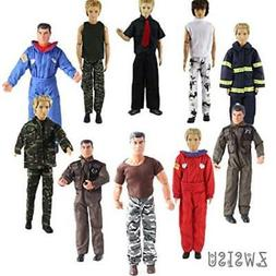 ZWSISU 5-Piece Ken Clothes for 10-Piece Boy Doll